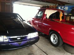 My 1994 lightning & 1987 ford mustang race car Ford Lightning, Sport Truck, Ford Mustang, Race Cars, Vroom Vroom, Vehicles, Drag Race Cars, Ford Mustangs, Car