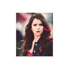 Nina Dobrev as Elena Gilbert in the best TV show ever, The Vampire... ❤ liked on Polyvore featuring nina dobrev