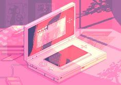 Animal crossing new leaf pin this pink aesthetic, aesthetic anime, pixel ar Vaporwave, Pink Aesthetic, Aesthetic Anime, Pixel Art, All Out Anime, Cyberpunk, Foto Gif, 8bit Art, Japon Illustration
