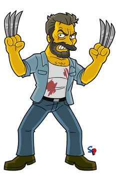 """Logan (Wolverine) from the """"Logan"""" movie A requested character today, Logan, featuring a few of his different looks throughout t. Simpsons Drawings, Simpsons Art, Bart Simpson, Marvel Dc, Logan Movies, Simpsons Characters, Rick Y Morty, Logan Wolverine, Nerd Art"""