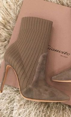 Shop The Look: 105MM Taupe Katie Ankle Boot-...