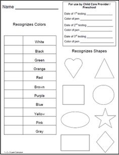 Children preschool testing sheets located as a free download at 1 - 2 - 3 Learn Curriculum blog. :)  Click on picture to access blog.  Thank you!  Jean  1 - 2 - 3 Learn Curriculum