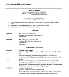 chronological resume samples examples format sample function formats robin