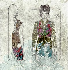 Gilly Rochester   Fashion Illustration Basso for Amelia's Magazine