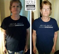 Cindy feels amazing...YAY!!  I started SS on June 26th. Down 6 pds in 30 days and it has stayed off! I could tell by the way my shirts were fitting! Lost some inches here and there! I haven't really been exercising but I try to keep busy which is easy with SS! Feel so much better than before I started! Oh yea and hot flashes are only a couple times a wk if that  before Sizzle they were about every hour on the hour! I will not be without Sizzle   Message me or visit my site…