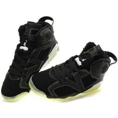 super popular 118c6 17c4e Air Jordan Shoes Air Jordan 6 Glow In The Dark Lakers  Air Jordan 6 - The Air  Jordan 6 Glow In The Dark Lakers shoe has a black suede and charcoal leather  ...