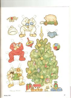 See other pin on this board for the baby! Sew Beautiful paper doll Christmas 2 by Theresa Borelli