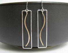 Geometrische oorbellen minimalistische zilver en door SimplySerasi