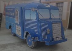 PAPERMAU: Citroen HY La Samaritaine Paper Model In 1/50 Scale - by Pascal 6733 & Camille