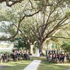 The Ceremony - Couple Weds in Charming Florida Garden - Southern Living- 50ft burlap custom runner by I Do! Aisle Runners.