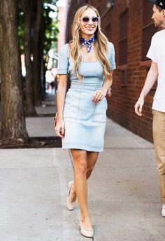 Harley Viera Newton Street Style Denim Dress