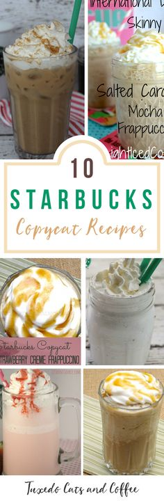 Love Starbucks but don't love paying over $5 for a cup of coffee? (At least where I live!). Here are 10+ Starbucks copycat recipes so you can recreate your favorite drinks at home for less and also avoid the long lines!