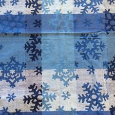 Blue Snowflake Tablecloth Damask By DunkirkCross On Etsy $22