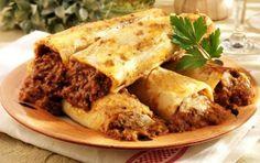 Συνταγή για κανελόνια με κιμά μπεσαμέλ.