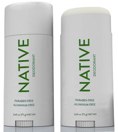 NATIVE DEODORANT $12 Leading antiperspirants contain aluminum, which is linked to breast cancer and Alzheimer's. Native Deodorant is aluminum-free and paraben-free.