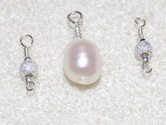 Silver and Pearl Charms