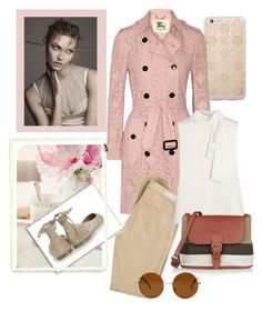 """""""Pretty pastel trench coat"""" by gagenna ❤ liked on Polyvore featuring Sonix, Gianvito Rossi, Burberry, AG Adriano Goldschmied, Alexander McQueen, Forever 21, women's clothing, women's fashion, women and female"""