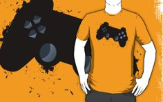 Abstract gamepad tee