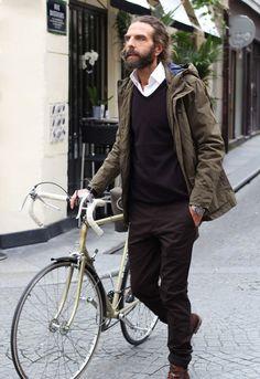 Image 1 of John Nollet 1 from Zara Smart Casual, Men Casual, Winter Stil, Look Man, Look Boho, Herren Outfit, Bike Style, Men Street, Guy Pictures