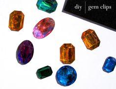 diy jeweled hair clips