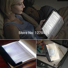 LED book light, magic Night Vision Light LED Reading Book Flat Plate Portable Car Travel Panel, Nightlights, led lamp