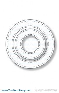 Stitched Circle Frame Die Set