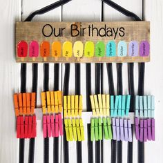 This Birthday chart - class birthdays - classroom decor - rainbow classroom - colorful classroom - kindergarten class - teacher gift is just one of the custom, handmade pieces you'll find in our signs shops. Student Birthdays, Student Gifts, Teacher Gifts, Class Teacher, Classroom Themes, Kindergarten Classroom, Classroom Birthday Displays, Birthday Display In Classroom, Birthday Bulletin