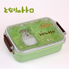 Studio Ghibli My Neighbor Totoro Lunch Box (Walking) Bento Box, Lunch Box, Ibloom Squishies, Japanese School Supplies, Totoro Merchandise, Hello Kitty, Boite A Lunch, My Neighbor Totoro, Line Friends