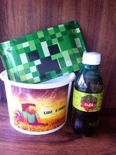 Kit Pipoca Minecraft #papelcomdesign #papelariapersonalizada #festaspersonalizadas #lembrancinhas #festainfantil #minecraft #especialgifts #lembrancinhaspersonalizadas