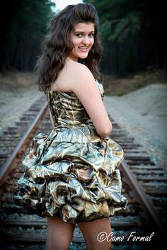 Add a hunter orange sash and this would be perfect for prom! Camo Prom Dresses, Camo Dress, Dresses 2013, Cute Dresses, Beautiful Dresses, Formal Dresses, Country Prom, Country Dresses