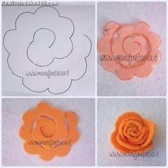 Incredible Kungelei roses 6 simple seamless sample Incredible … - My CMS Felt Flower Bouquet, Felt Flower Wreaths, Paper Flowers Diy, Flower Crafts, Fabric Flowers, Felt Diy, Felt Crafts, Large Paper Flower Template, Felt Flowers Patterns
