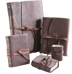 Medieval Leather Journals with Amalfi Paper.  I saw these in London.  They are incredible.