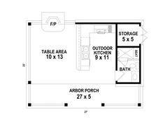 Pool Deck Plans, Gazebo Plans, Pool House Plans, Backyard Guest Houses, Pool Houses, Pool House Bathroom, Cool Sheds, Simple Pool, Garage Floor Plans