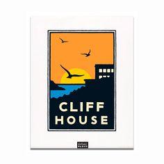 Unframed Poster - Cliff House
