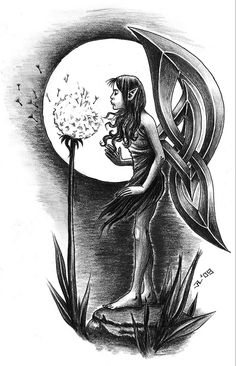 Minus the fairy, another wing choice. (The whole picture is great though, but I'm not looking for a fairy tattoo right now.) (celtic fairy by *roblfc1892)