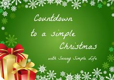 Countdown to a Simple Christmas Series | Sunny Simple Life