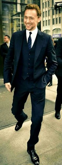 Tom Hiddleston looking snazzy as usual