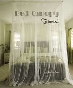 How to Make a Ceiling Bed Canopy (tutorial) - Big DIY Ideas