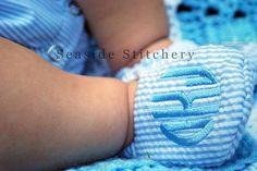 Monogrammed Soft Shoes  Infant Baby  Boys by SeasideStitcheryLLC