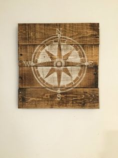 Nautical Compass Sign / Nautical Decor / Wood by PalletsandPaint