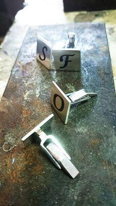 on sale,monogram cufflinks, silver cufflinks, personalized,initial