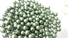 Perola ABS verde exercito 6mm