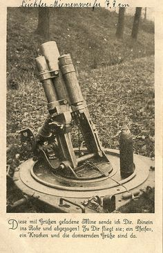 World War I German 77mm light trench mortar.