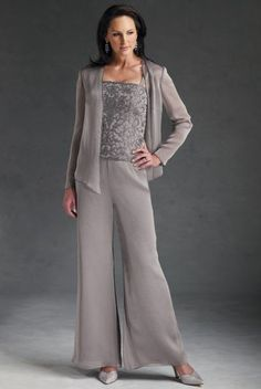 mother of the groom pant suits plus size | 658. Evening Pants ...