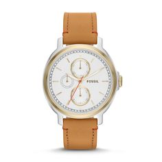 Fossil Chelsey Multifunction Leather Watch - Tan