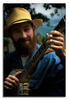 banjo + beard + hat = cool