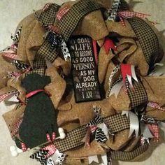 Dog lovers wreath