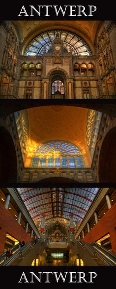 The most beautiful railway station in the world! Antwerp, Belgium