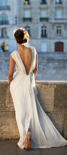 Maxi dresses and skirts / karen cox. Style - romance ♥ white maxi dress with low cut back interest