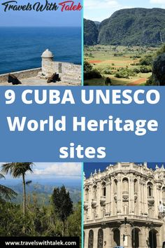 Here's a complete guide to 9 historic UNESCO World Heritage sites in Cuba. The Cuba locales on this list of UNESCO World Heritage sites are as naturally and culturally diverse as the country itself, and they shouldn't be missed. #unesco #cuba #heritagesites #travel #travelguide Cuba Itinerary, Places To Travel, Travel Destinations, Cuba Travel, Travel Abroad, Visit Cuba, Ultimate Travel, Travel Guides, Travel Tips